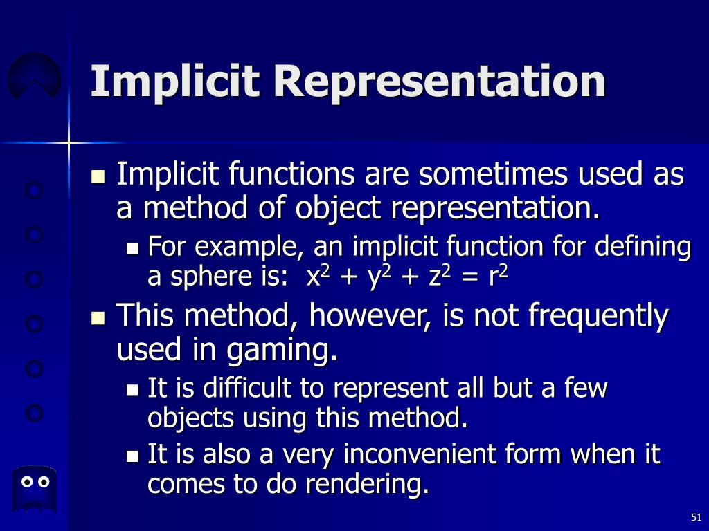 Implicit Representation