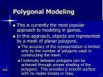 polygonal modeling
