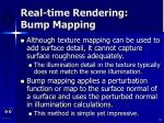 real time rendering bump mapping