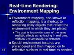 real time rendering environment mapping