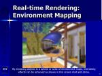 real time rendering environment mapping79