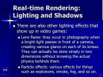 real time rendering lighting and shadows82