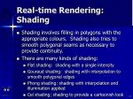 real time rendering shading