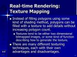 real time rendering texture mapping