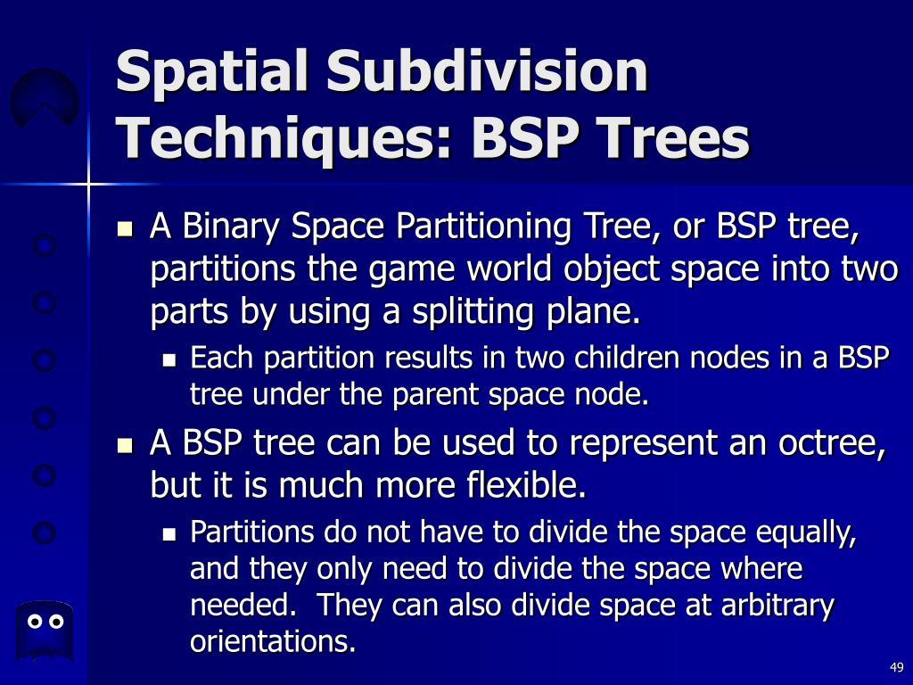 Spatial Subdivision Techniques: BSP Trees
