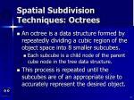 spatial subdivision techniques octrees