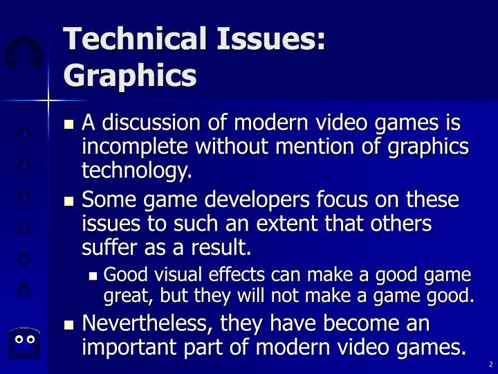 Technical issues graphics2
