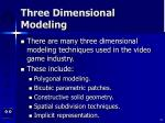 three dimensional modeling34