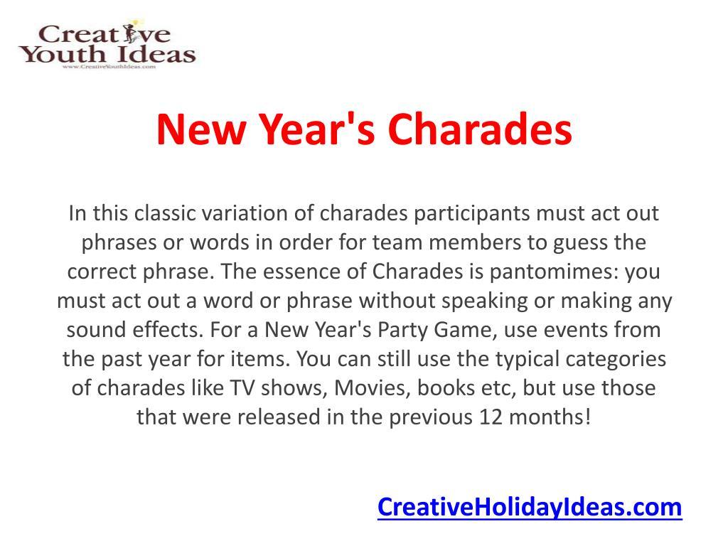 new year s charades l.