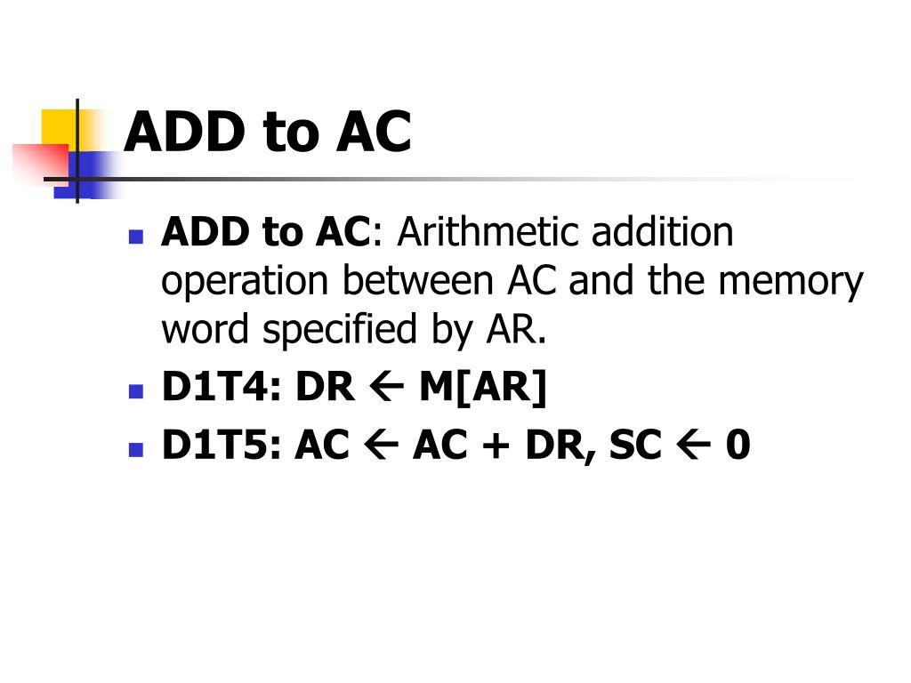 ADD to AC