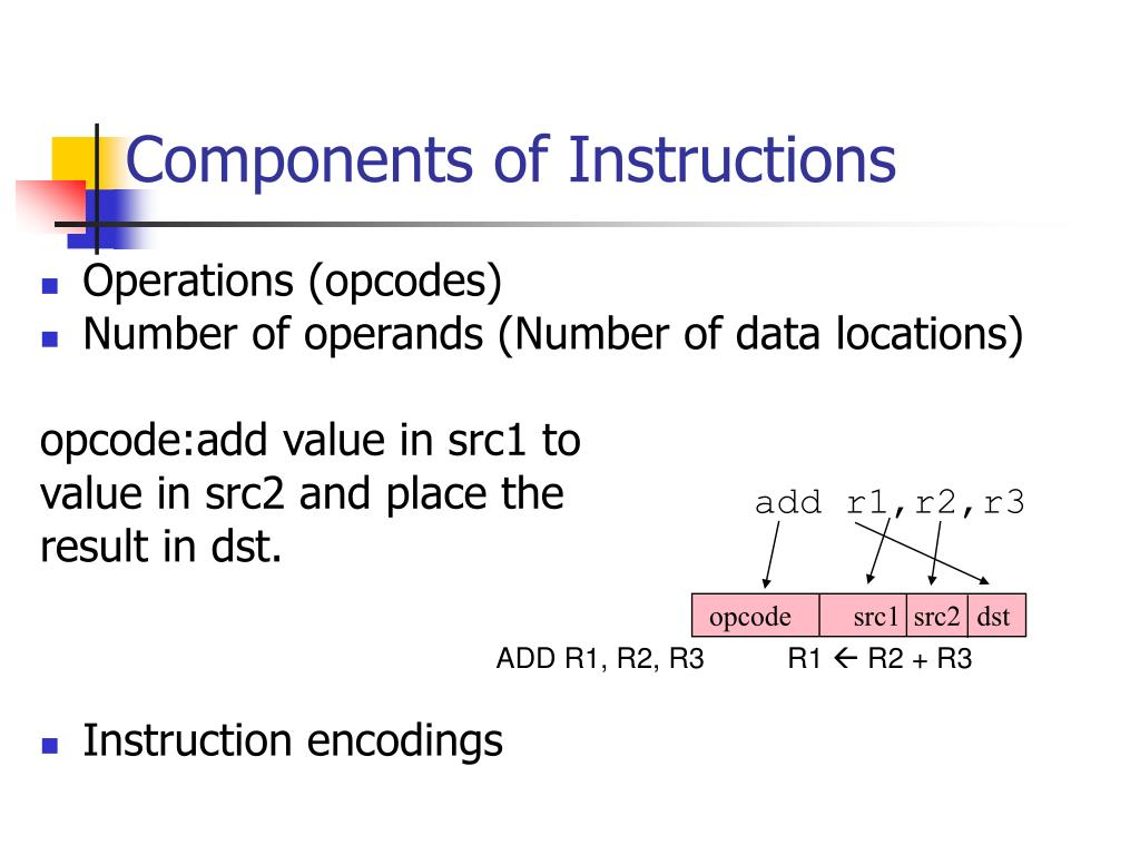 Components of Instructions