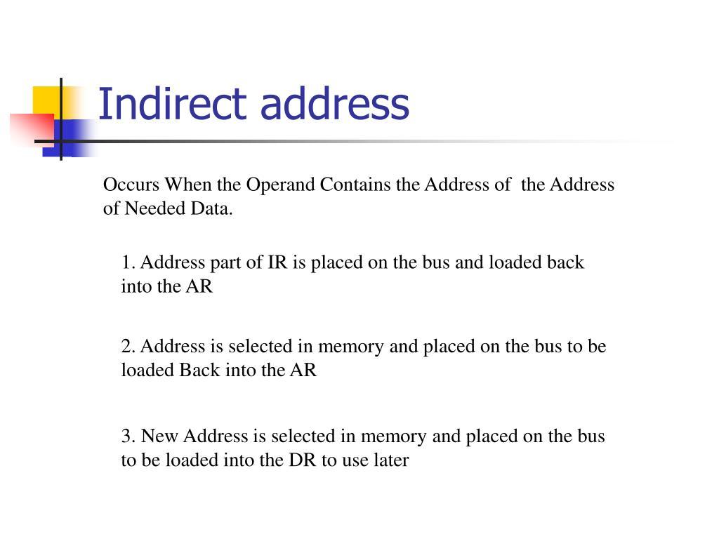 Indirect address