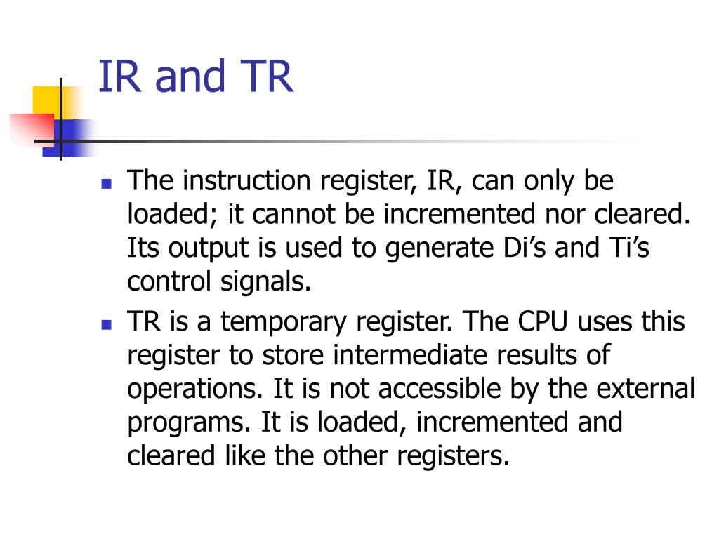 IR and TR