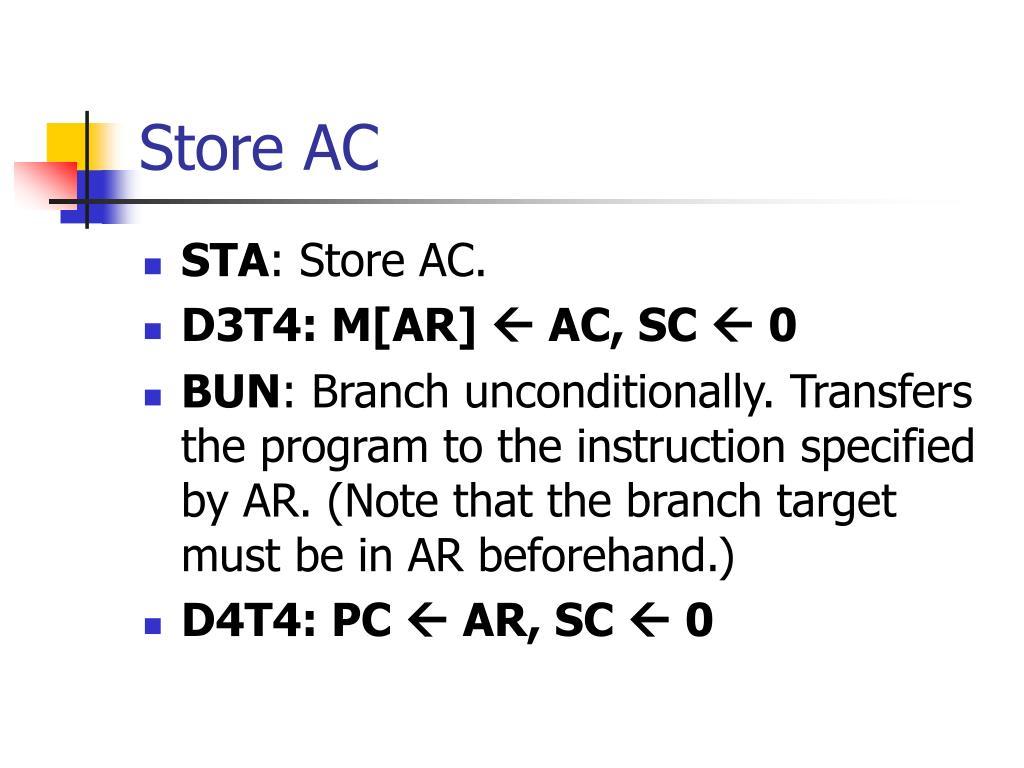 Store AC