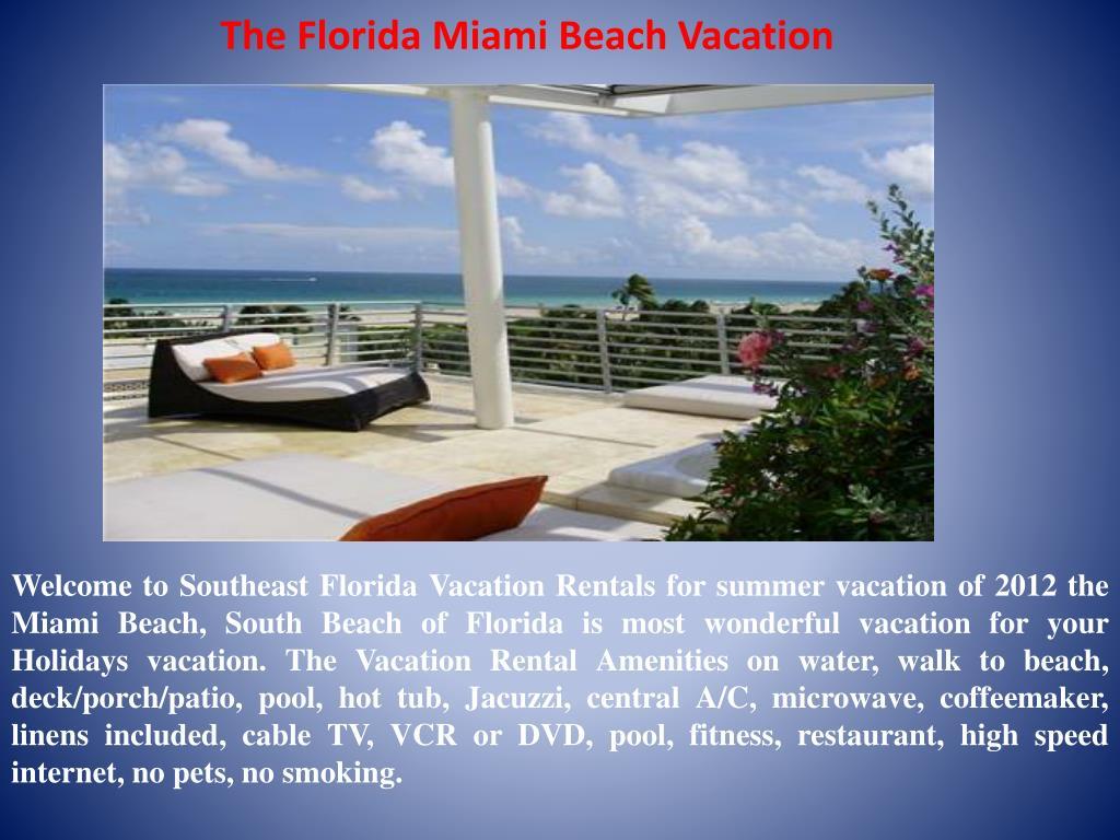 the florida miami beach vacation l.