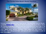 the florida palm beach shores vacation