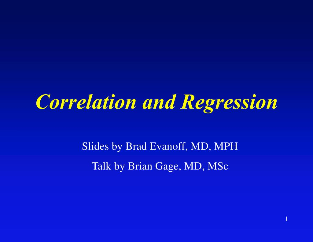 correlation and regression l.