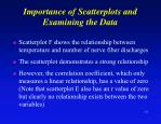 importance of scatterplots and examining the data