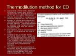thermodilution method for co