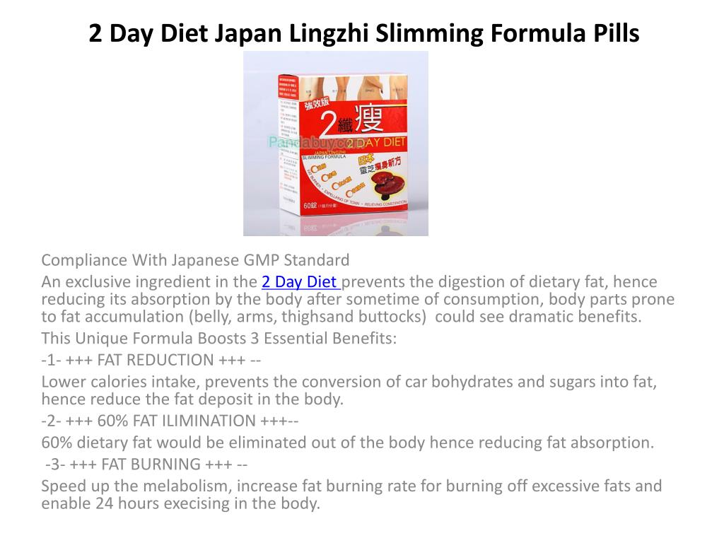 2 day diet japan lingzhi slimming formula pills l.