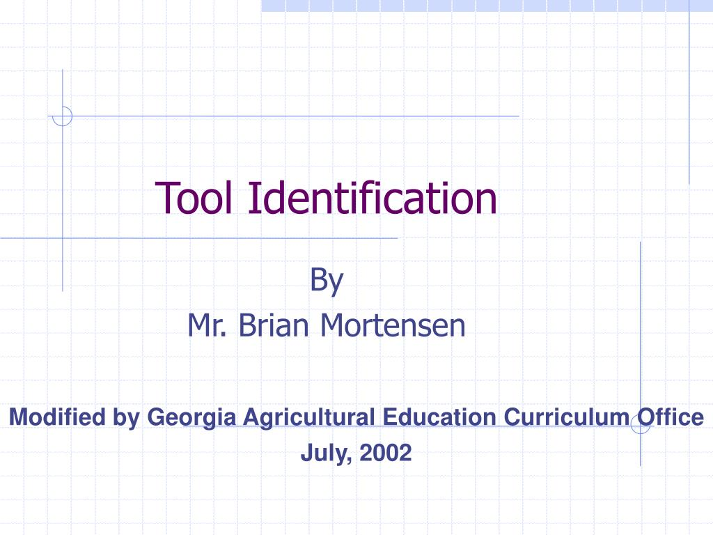 tool identification l.