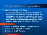 iii principais falhas e irregularidades6