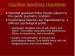 cognitive specificity hypothesis