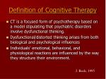 definition of cognitive therapy