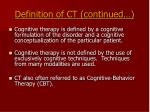 definition of ct continued7