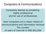 computers communications