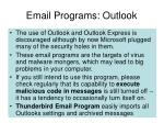 email programs outlook