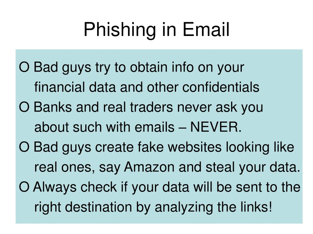 Phishing in Email