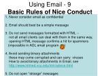 using email 9 basic rules of nice conduct