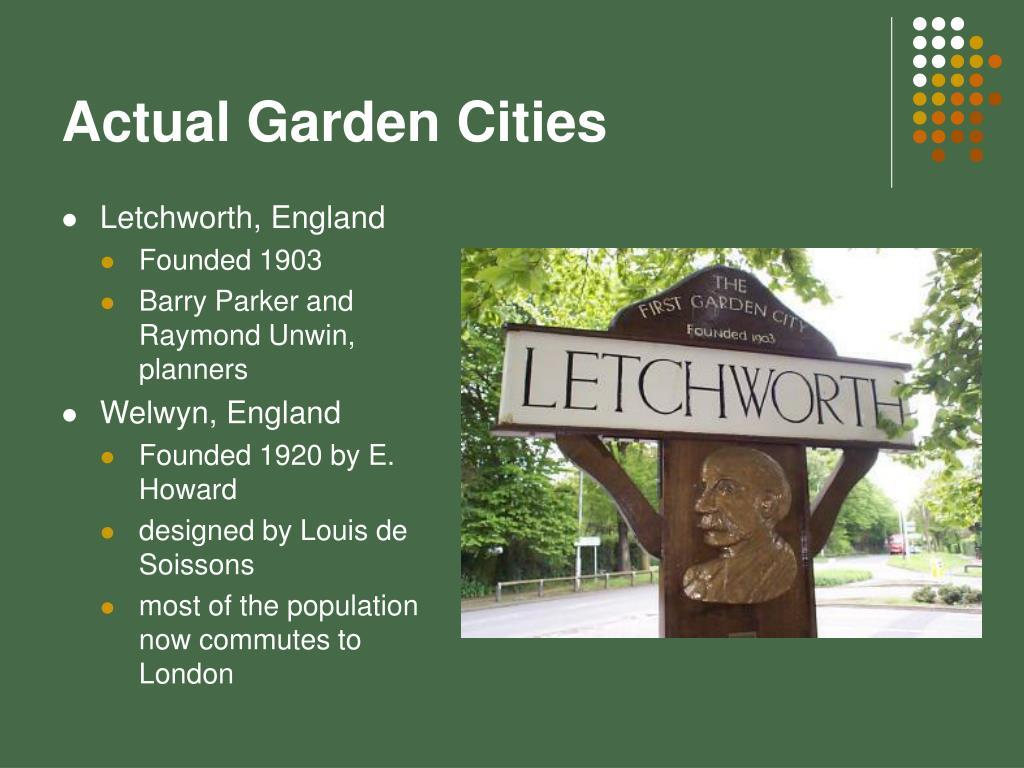 Actual Garden Cities