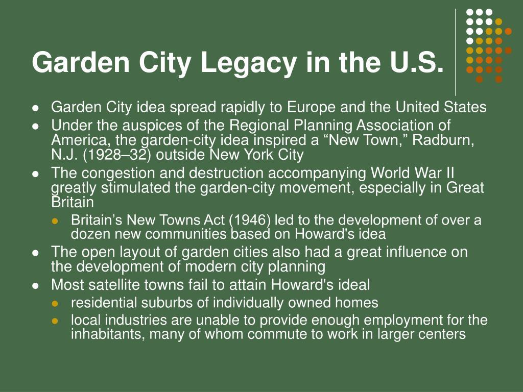 Garden City Legacy in the U.S.