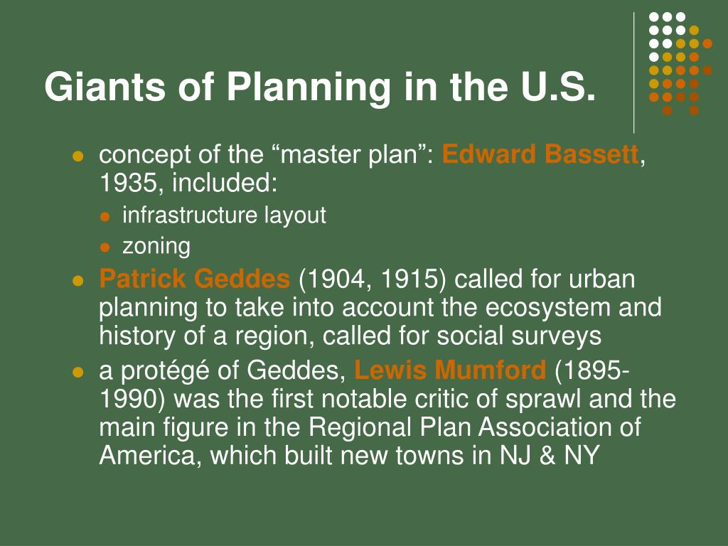 Giants of Planning in the U.S.