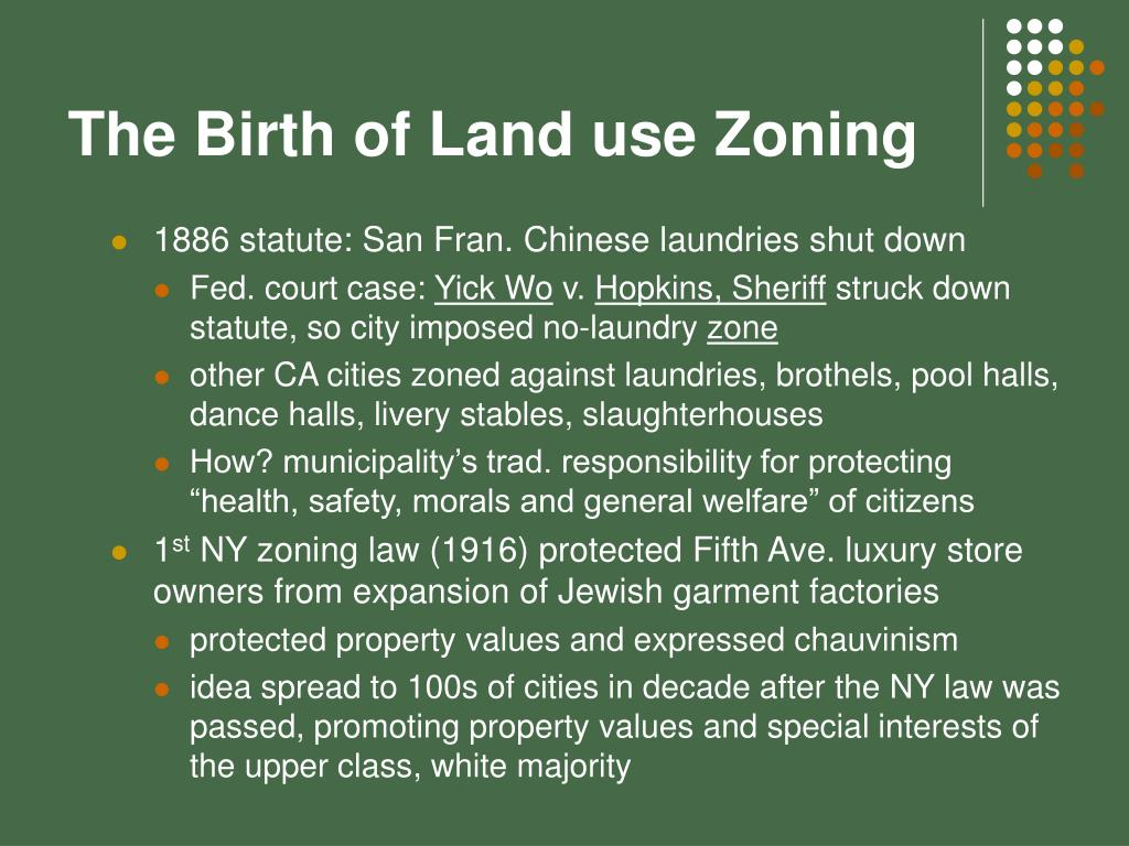 The Birth of Land use Zoning
