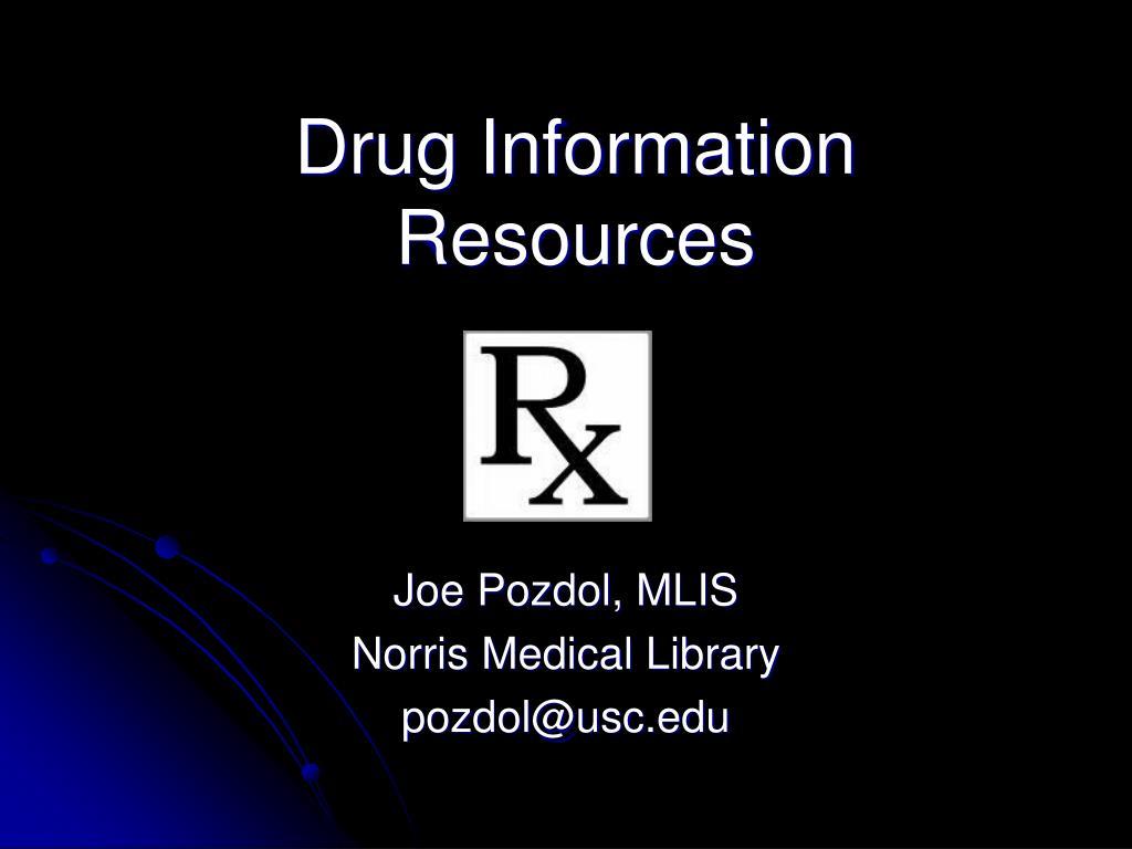 drug information resources l.