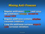 mixing anti freezes