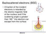 backscattered electrons bse