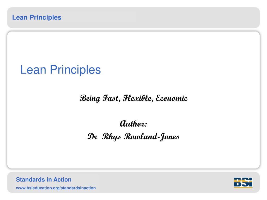 lean principles l.