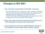 changes to iso 9001