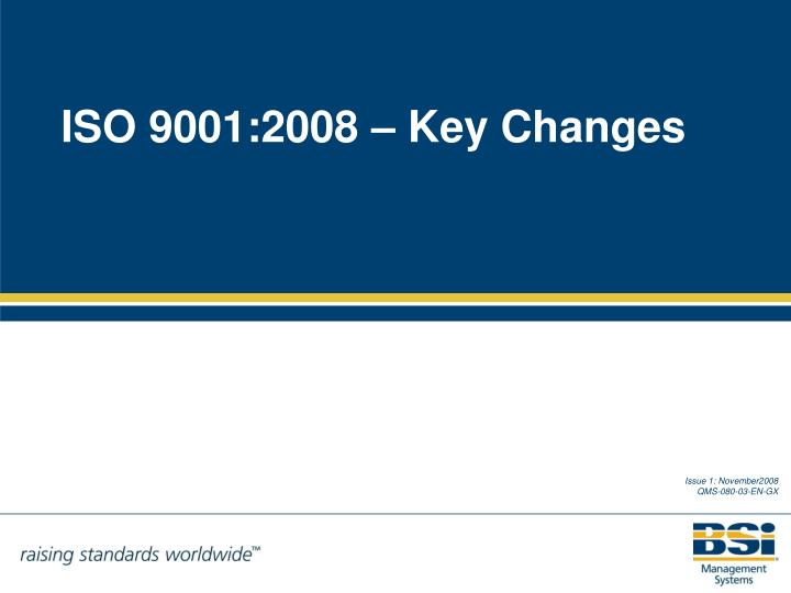 Iso 9001 2008 key changes