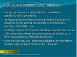 cultural and administrative solutions