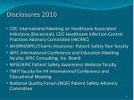 disclosures 2010
