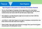 hand hygiene information for infection prevention summit