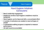 hand hygiene initiatives conclusions