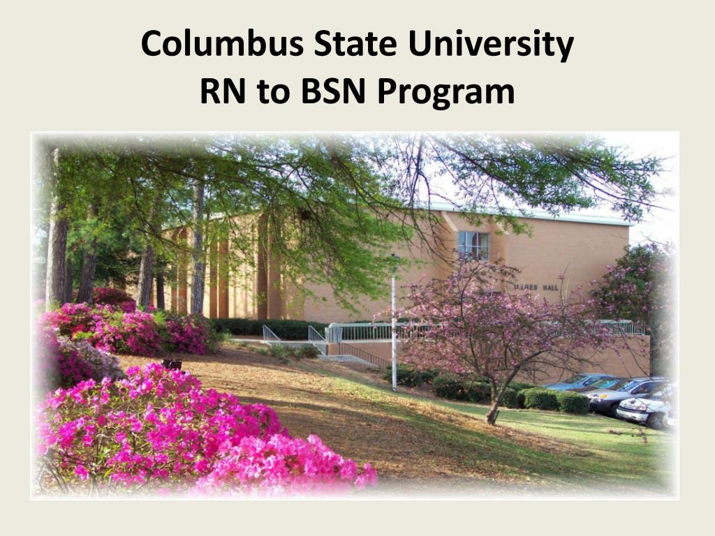 columbus state university rn to bsn program l.