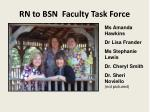 rn to bsn faculty task force
