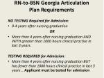 rn to bsn georgia articulation plan requirements
